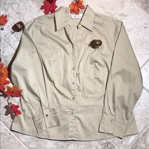 Light Brown Casual Blouse, slight contouring